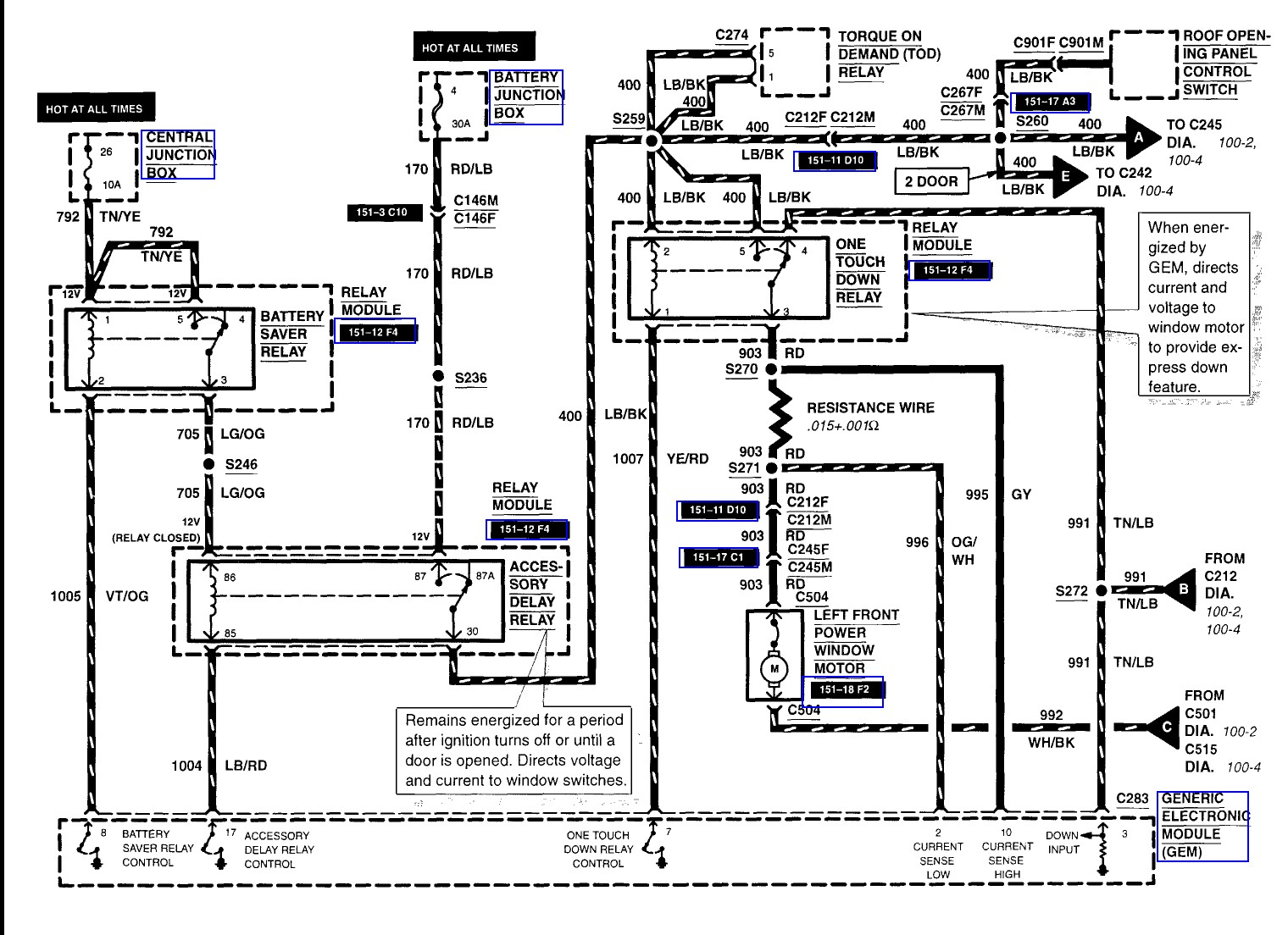Electrical Wiring Diagram Ford Explorer Window